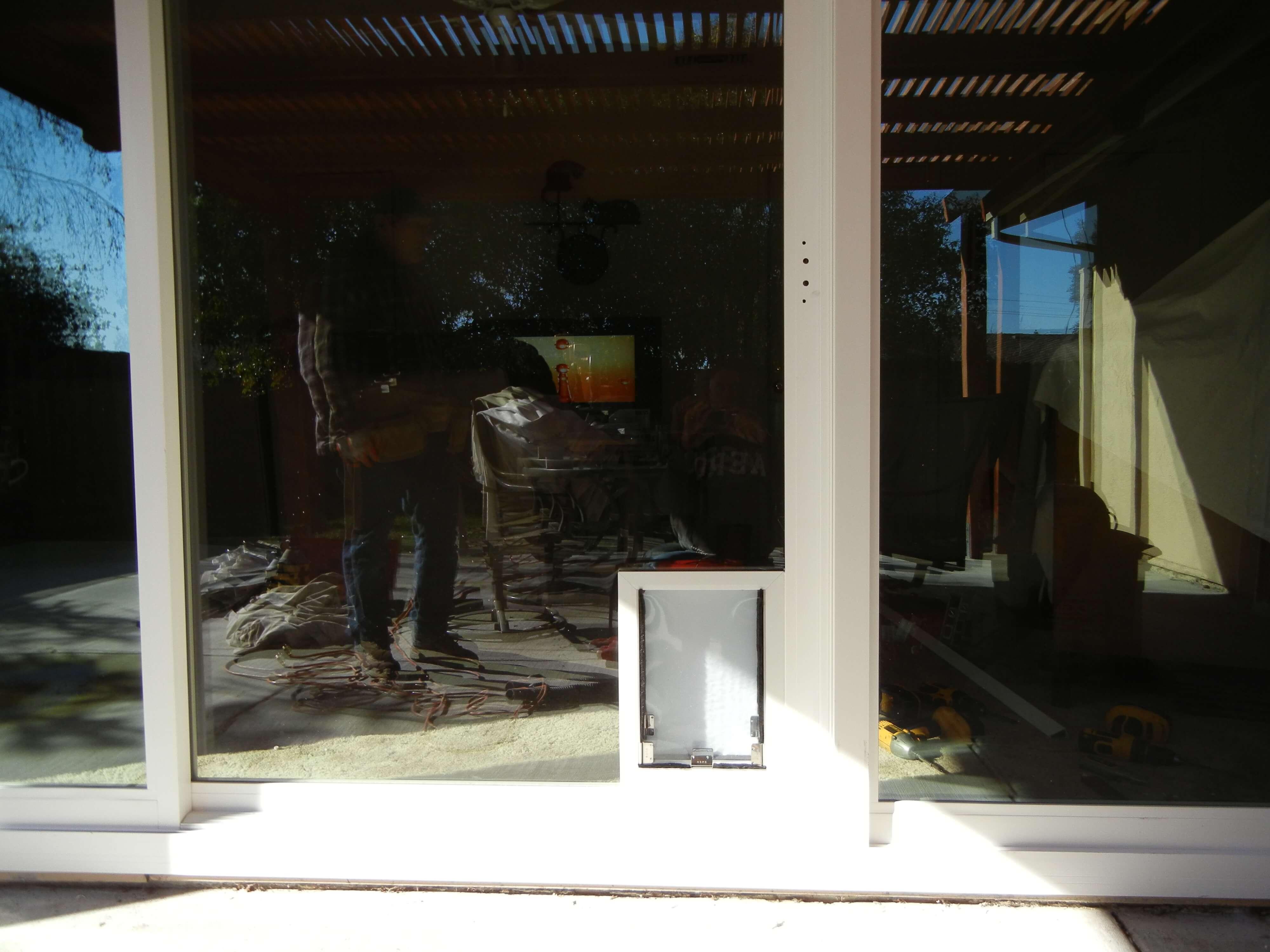 Amerimax New Horizon Retrofit Patio Door With Pet Door | Ru0026M Quality  Windows And Doors
