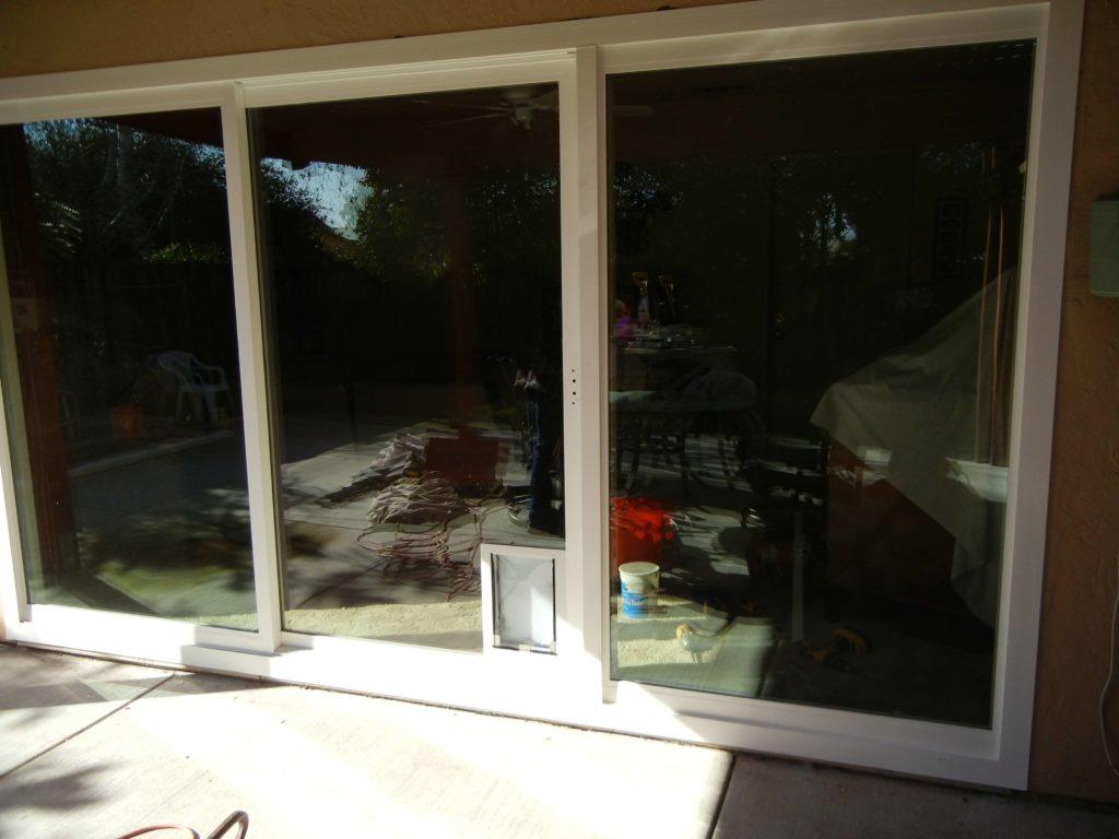 Amerimax New Horizon Retrofit Patio Door With Pet Door Rm After  Stokkelandfo Choice Image